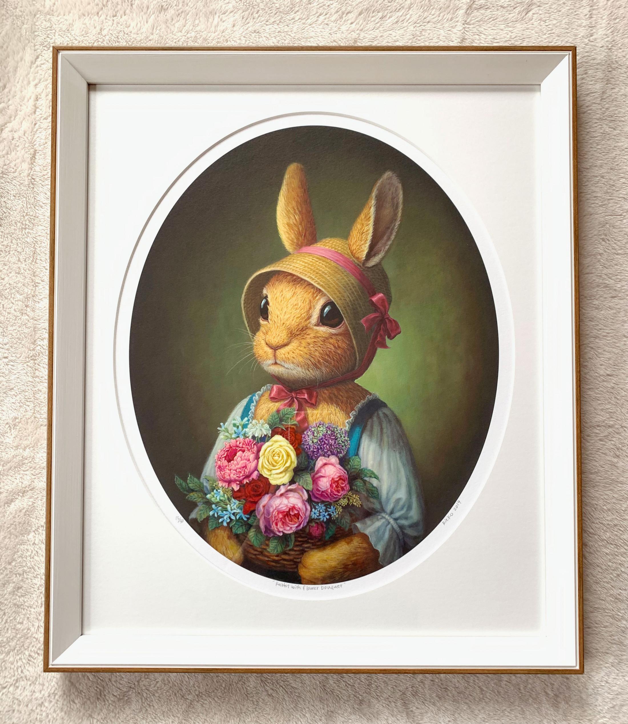 Rabbit with flower bouquet